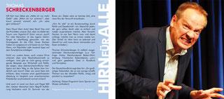 Thomas Schreckenberger - Hirn für alle - Live. Booklet