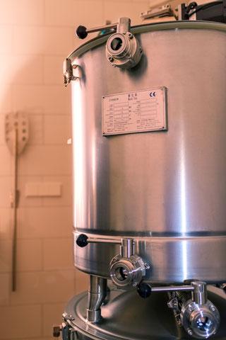 Braukessel von der Nano Brauerei Hopf nei