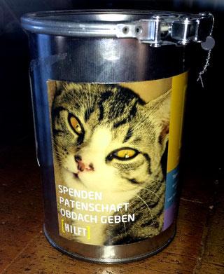 Spendendose des Tierschutzvereins Münsingen e. V.