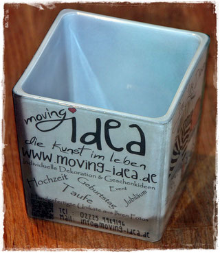 Werbegeschenk als Teelicht und Dekoration
