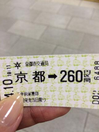 京都駅から地下鉄に乗って・・・