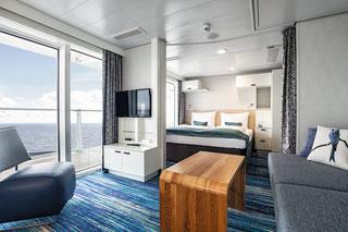 Familienkabine Balkon | © TUI Cruises