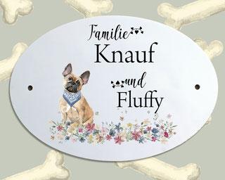Türschild Hund französische Bulldogge