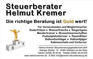 Anzeige Steuerberater Helmut Kremer