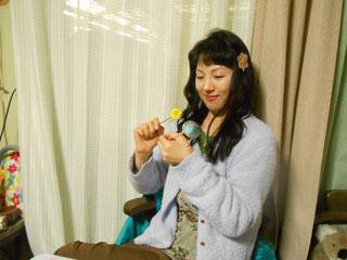 あおいからアイディアが浮かびます。YukiTachibana  立花雪  炎と楽園のアート