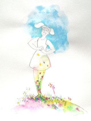 severine saint-maurice, dessin intuitif, illustration, crayon de couleur, lescerclesdelumiere.com