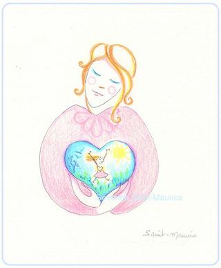 enfant intérieur, severine saint-maurice, lescerclesdelumiere.com, dessin, crayons de couleur, illustration, dessin pour enfant, amour