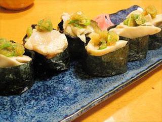 岩牡蠣の寿司(2016/04/23)