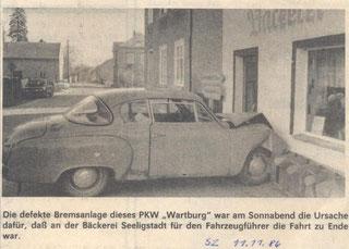Bild: Seeligstadt Chronik 1986