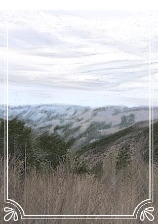 奥多摩プチ登山水彩画