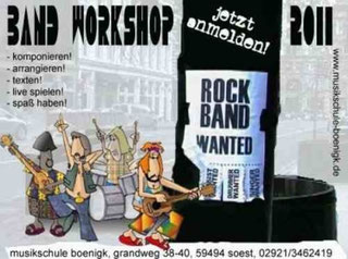 Band Workshop, Musikschule Boenigk Grandweg 38-40 - 59494 Soest.