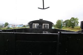 石炭庫越しのマックレー車