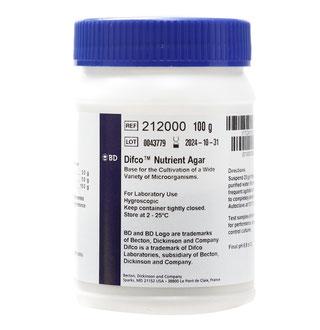 212000 BD Difco™ Agar Nutritivo, 100 g