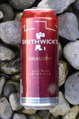 Smithwick's draught in a can