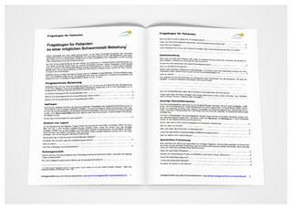 Bei uns in der Zahnarztpraxis erhältlich: Fragebogen zur Schwermetall-Belastung (© Doc S)