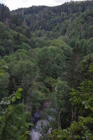 Der Ausblick in den Hochschwarzwald mit der Wutach im Vordergrund lädt zum pausieren ein.