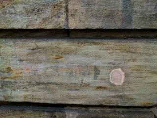 Wand Bayreuth Farbe Schule P Seminar P-Seminar RWG Richard Wagner Gymnasium Museum Ausstellung Struktur 2011  Loch verputzt beige Sandstein Fichtelgebirge