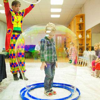 шоу мыльных пузырей для детей на детский праздник день рождения