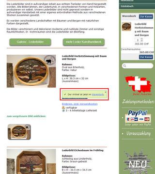 Nach dem Sie den gewünschten Artikel zum Warenkorb hinzu gefügt haben, erscheint eine Bestätigung und Rechts oben erscheint Ihr Warenkorb. Nun können Sie weiter in unserem Online Shop stöbern.