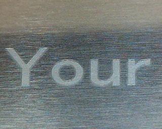 白アルマイト処理アルミへの防錆マーキング  銀色の視認性のよいマーキングとなります