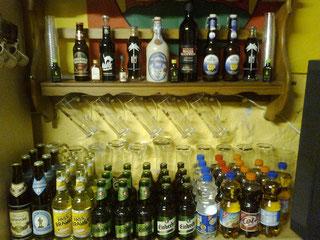 Große Auswahl an diversen Getränken