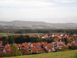 10/17: IVV Heroldsberg: Blick v. Kalchreuth nach Norden in die fränk. Schweiz
