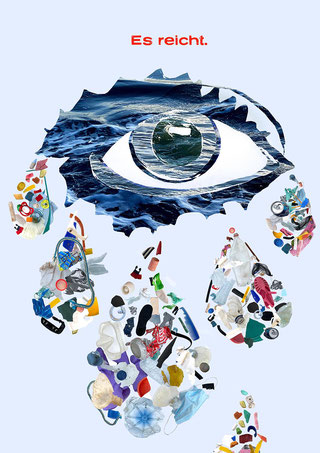 Internationale Konferenz zur Rettung der Ozeane | Collage-Artwork & Plakat-Layout