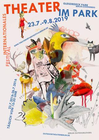 Theater im Park-Festival Berlin 2016 |          Collage-Artwork & Plakat-Layout