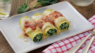 cannelloni ricotta e spinaci senza glutine