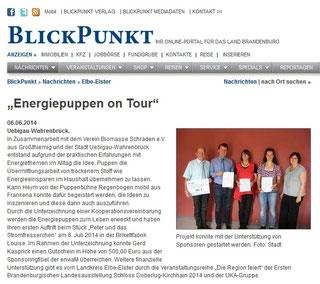 """Bei der Unterzeichnung der Kooperationsvereinbarung für die """"Energiepuppen on Tour"""""""