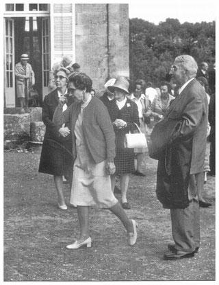 André Lapeyre, à droite, lors d'une excursion de la Société (cliché J.Grimbert)