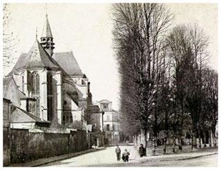 L'église de L'Isle-Adam en 1868