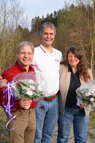 von links nach rechts: H. Prasser, T. Pyttlik (VMSB-Präsident), S. Heckmaier