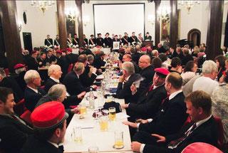 Feier des 165-jähringen Bestehens im Kaisersaal des historischen Kaufhauses in Freiburg