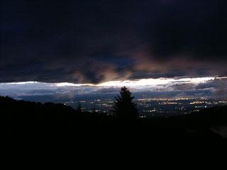 ... und danach die Lichter in der Rheinebene