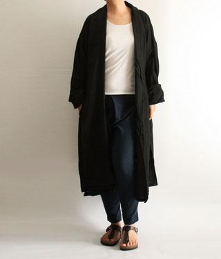 ヂェン先生の日常着 へちまえり ロングカーディガン イメージ