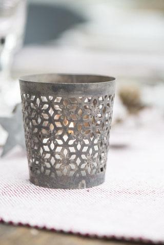 Teelichthalter Fleur aus zink