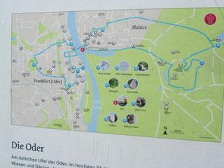 Karte Slubice / Frankfurt an der Oder