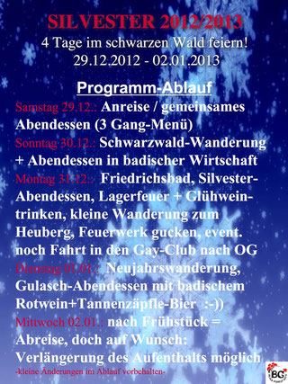 Blackforest Guys Silvester 2012 / 2013