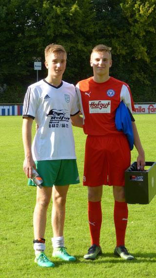 10.09.2017    Tim Bojens (TuRa Meldorf) & Oke Paulsen (Holstein Kiel) vorher beide C-Jugend Heider SV (Saison 2015/16 & 2016/17)