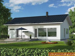 Holzhaus in Blockbauweise - Einfamilienhaus Stade - Blockhäuser zum Wohnen - Massivholz - Bausatzhaus - Ausbauhaus - Holzhaus Bungalow - Typenhaus mit Eigenleistung möglich