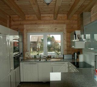 Offene Küche im Blockhaus - Holzhaus Lüneburg