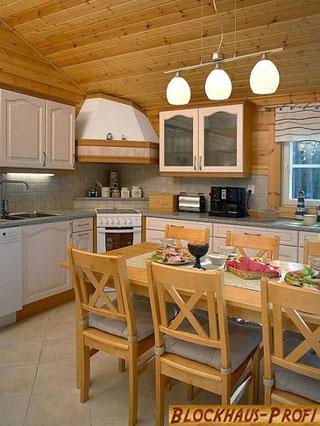 Offene Küche im Blockhaus - Holzhaus Wismar