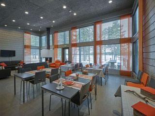 Hotel - Seminarraum im Blockhaus - ökologische Massivholzhäuser - Gewerbebau