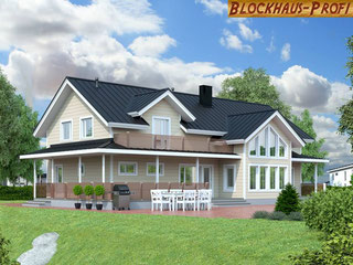 Wohnblockhaus - Holzhaus Hamburg - Große Blockhäuser - Winterfeste Holzhäuser - Stadthäuser - Landhaus  - Wir bauen  die Holzhäuser in massiver Blockbauweise allergikergerecht und gesund ohne Folien