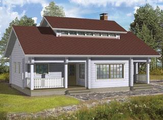 Singlehaus Müritz 75 - Holzhaus Wismar - Blockhäuser zum Wohnen - Wohnhaus mit  Satteldach