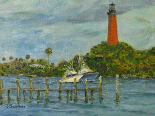 Jupiter Lighthouse 2016, oil/canvas panel, 11X14, $300