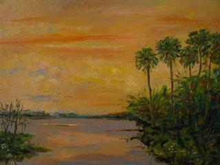 Old Florida Sunset, Framed
