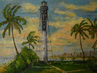 Hillsboro Lighthouse #2, Oil, 11x14, Frame, $300
