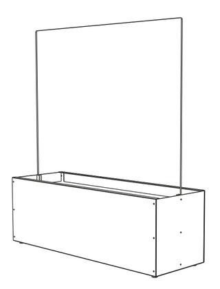 Windschutzanlage Glas mit Sitzbank